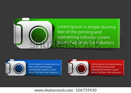 Camera mark banner design Vector.