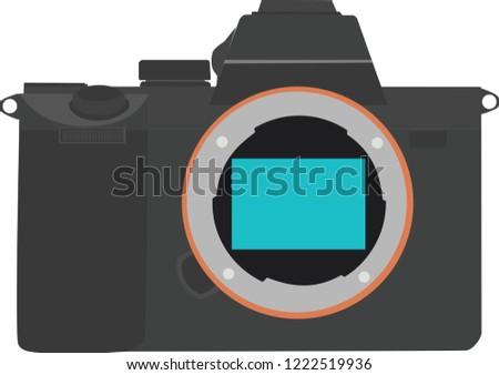 Camera Mirrorless vector Illustration