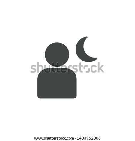 camera night mode icon isolated