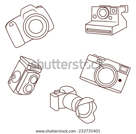 camera object collection hand