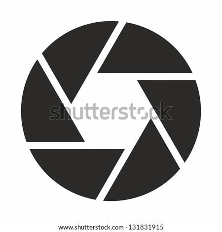 Camera objective icon symbol