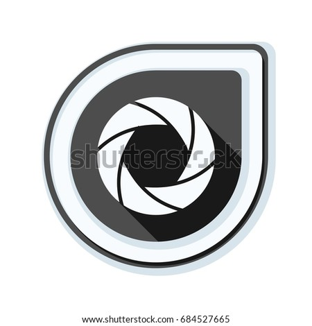 camera photo button illustration