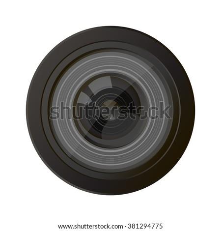 Camera photo lens vector. Camera lens vector illustration with realistic reflections. Camera photo lens shutter and camera photo lens realistic sign. Camera photo lens equipment. Camera photo lens.