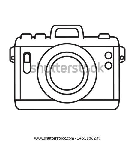 camera photographic device isolated icon