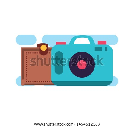 camera photographic digital with wallet money