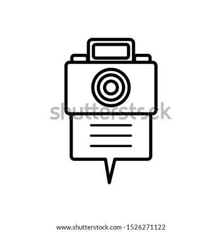 camera photographic in speech bubble vector illustration design