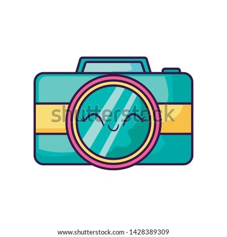 camera photographic kawaii style icon
