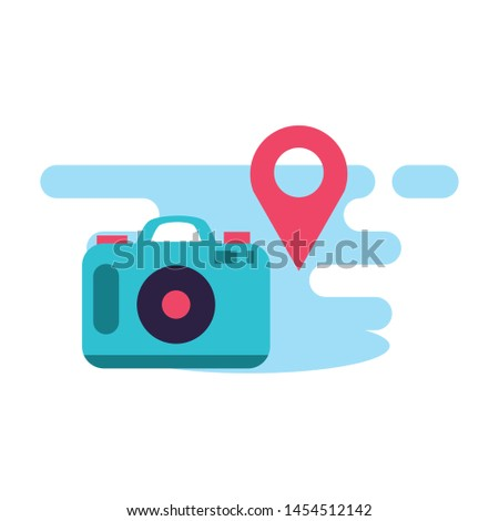 camera photographic with pin location