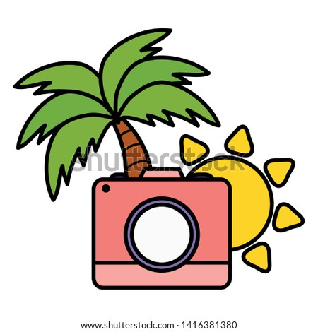 camera photographic with sun summer