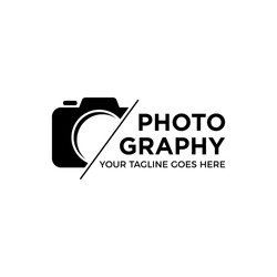 camera photography logo icon vector template