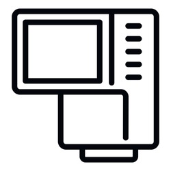 Camera screen assist icon. Outline camera screen assist vector icon for web design isolated on white background