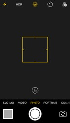 Camera screen phone mobile interface app. Smartphone photo viewfinder ui template design.