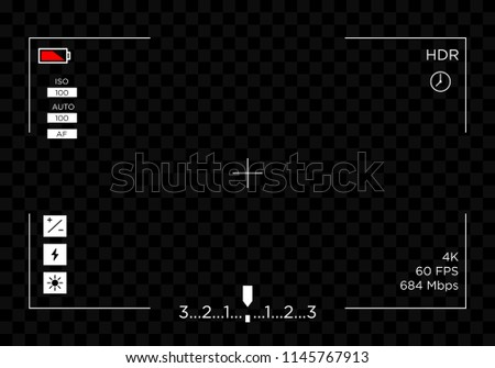 camera screen view template