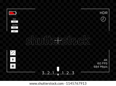 camera screen view template