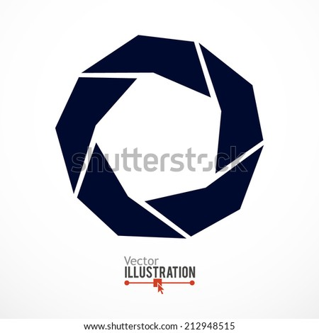 camera shutter abstract icon