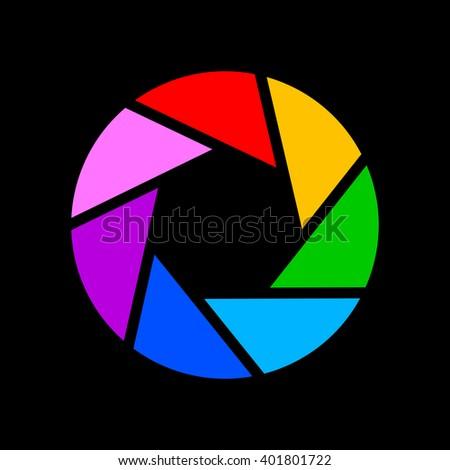 Royalty Free Aperture Color Wheel 3d Logo 103872614 Stock Photo