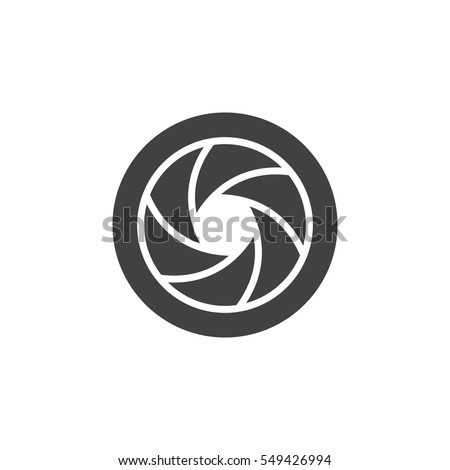Camera Shutter icon vector, filled flat sign, solid pictogram isolated on white. Symbol, logo illustration