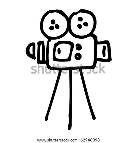 Camera sketch. Vector