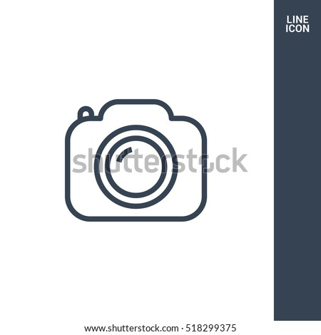 Camera vector icon. Photo line vector icon for websites and mobile minimalistic flat design.