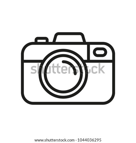 Camera vector icon. Photo line vector icon minimalistic flat design.