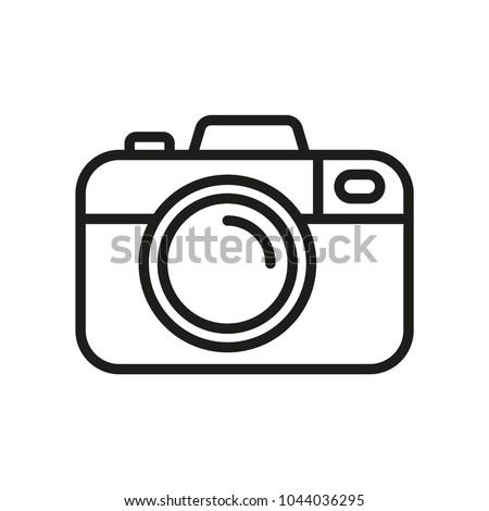 Camera vector icon. Photo line vector icon minimalistic flat design.