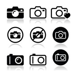 Camera vector icons set