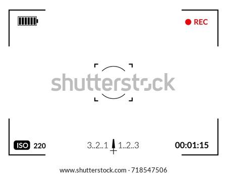 camera viewfinder with digital