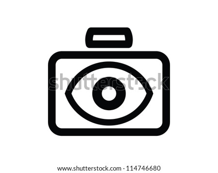 Camera with Eye for Lens.