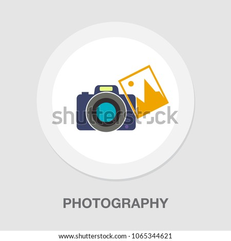 CAMERA with photo icon, vector photography, digital photo camera with image symbol, photographer equipment
