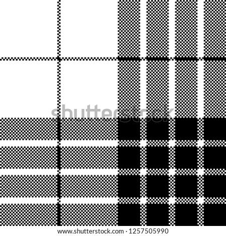 cameron black white tartan