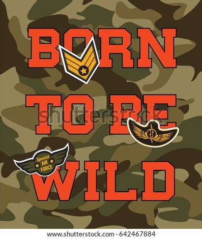 camouflage college with born to