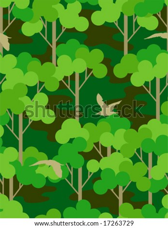 camouflage forest - seamless pattern - stock vector