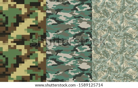 Camouflage Leather. Camo Pattern. Soldier Uniform. Army Uniform.