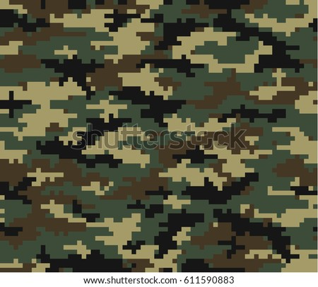 camouflage pattern and with