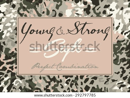 camouflage print background and