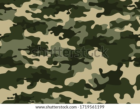 Camouflage seamless pattern.Military camo.Army background.Print on clothing.Modern design. Сток-фото ©