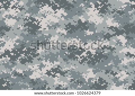 Camouflage seamless pattern. Trendy urban style camo, repeat print. Vector illustration.