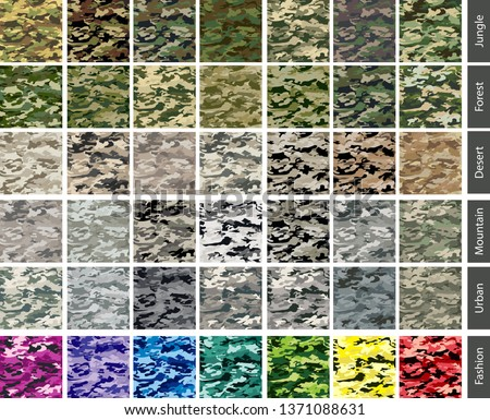 camouflage seamless tile color set Stock photo ©