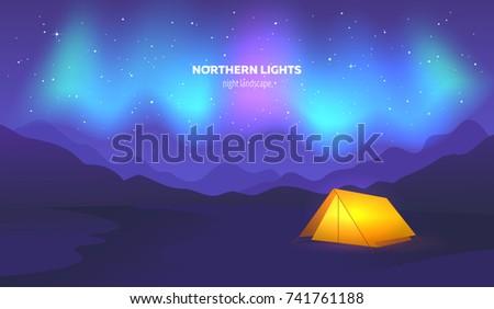 camp tent under beautiful