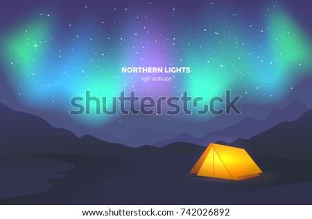 camp tent under night sky