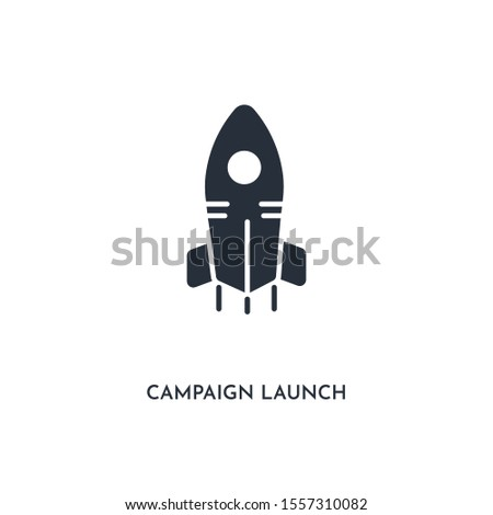 campaign launch icon. simple element illustration. isolated trendy filled campaign launch icon on white background. can be used for web, mobile, ui.