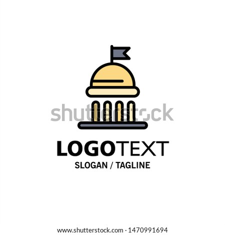 Campaign, Political, Politics, Vote Business Logo Template. Flat Color. Vector Icon Template background