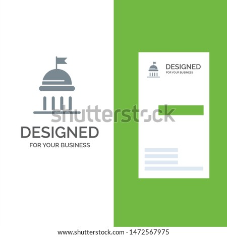 Campaign, Political, Politics, Vote Grey Logo Design and Business Card Template