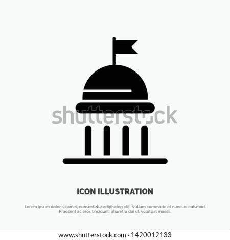 Campaign, Political, Politics, Vote solid Glyph Icon vector