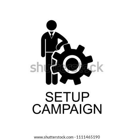 campaign setup icon. Element of seo and development icon with name for mobile concept and web apps. Detailed campaign setup icon can be used for web and mobile on white background