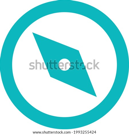 campas sign Icon with red color.eps  Foto stock ©