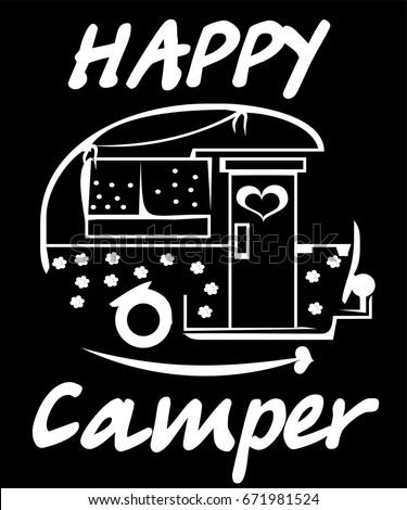 campercute happy camper cartoon