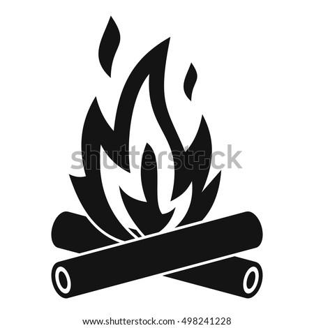 campfire icon. simple...