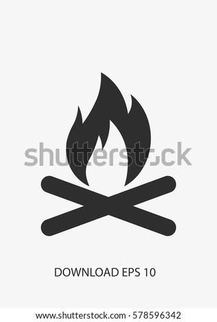 campfire icon vector