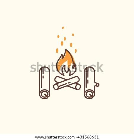 campfire line icon campfire